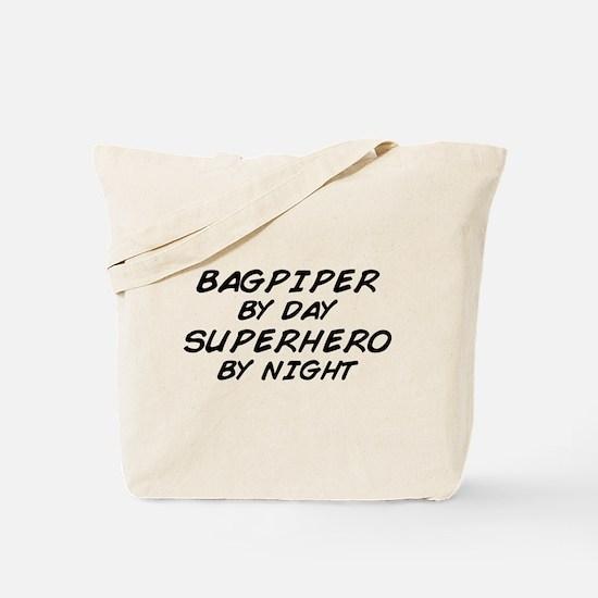 Bagpiper Superhero Tote Bag