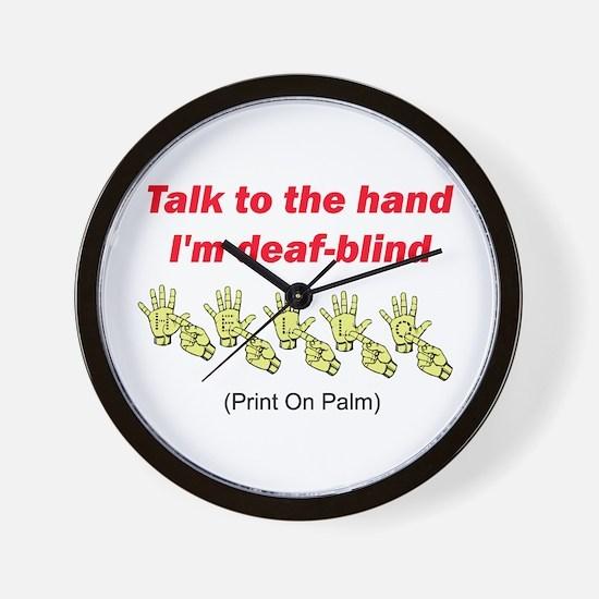 Cool Deaf blind Wall Clock