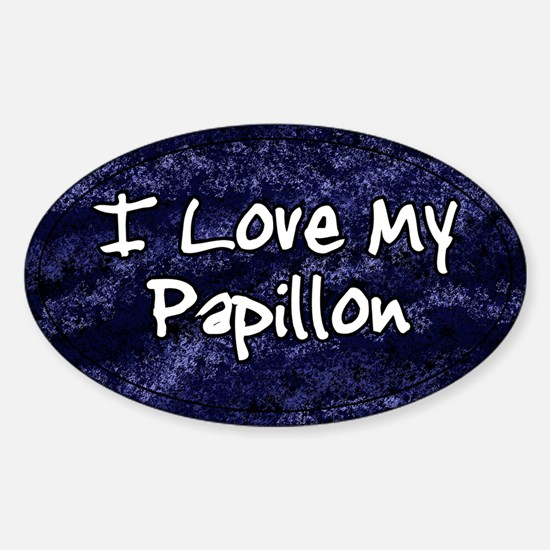 Funky Love Papillon Oval Decal