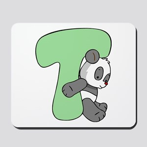 Zoo Alphabet T - Panda Mousepad