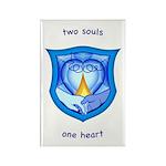 2 Souls 1 Heart Rectangle Magnet (100 pack)