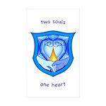 2 Souls 1 Heart Rectangle Sticker 50 pk)