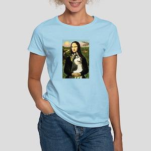Mona Lisa & Siberian Husky Women's Light T-Shirt