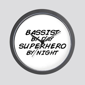 Bassist Superhero by Night Wall Clock