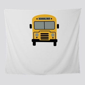 School Bus Wall Tapestry