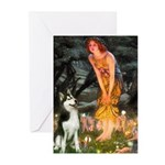 Mid.Eve / Siberian Husky Greeting Cards (Pk of 10)