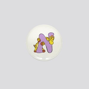 Zoo Alphabet N - Giraffe Mini Button