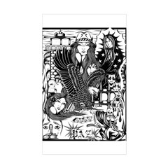 PAZ PRISON COLLAGE 96 Rectangle Sticker 10 pk)