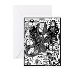 PAZ PRISON COLLAGE 96 Greeting Cards (Pk of 20)