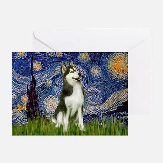 Starry Night & Husky Greeting Cards (Pk of 10)
