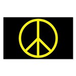 Peace Rectangle Sticker 50 pk)