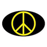Peace Oval Sticker (50 pk)