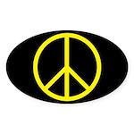 Peace Oval Sticker (10 pk)