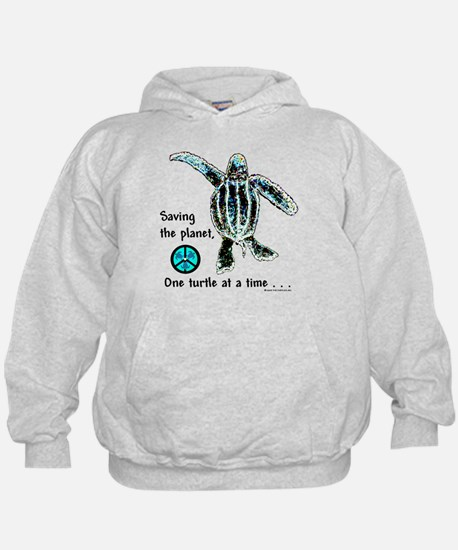 PEACEFUL TURTLE PLANET KID'S HOODIE
