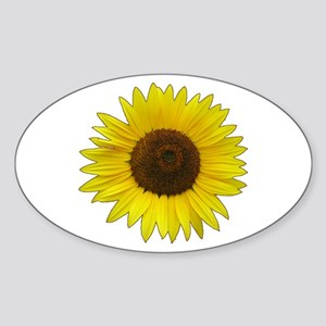 Helaine's Sunflower Sticker (Oval)