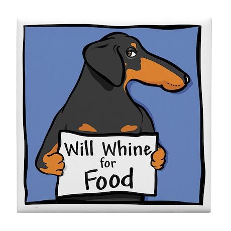 Will Whine BT Weinerdog Tile Coaster