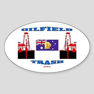 Oilfield Trash Oval Sticker