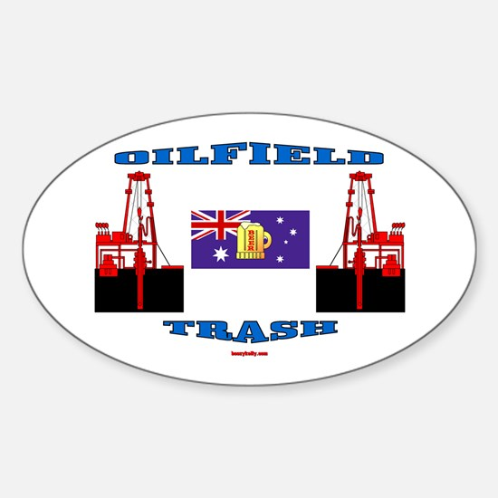 Oilfield Trash Oval Decal