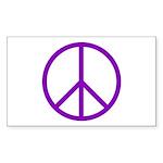 Peace Rectangle Sticker 10 pk)