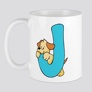 Zoo Alphabet J - Puppy Mug