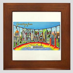 Mississippi State Greetings Framed Tile