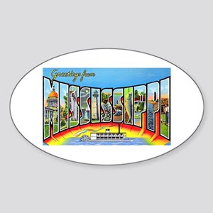 Mississippi State Greetings Oval Sticker