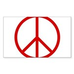 Peace Rectangle Sticker 50 pk)