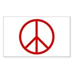Peace Rectangle Sticker 10 pk)