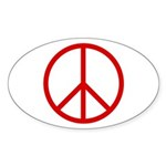 Peace Oval Sticker (10 pk)
