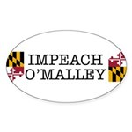 Impeach O'Malley Oval Sticker (10 pk)