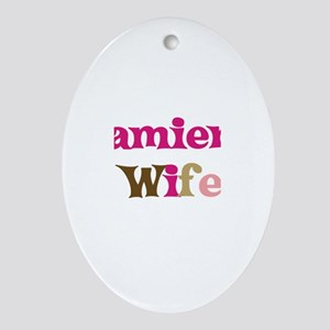 Damien's Wife Oval Ornament