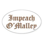 Impeach O'Malley Oval Sticker (50 pk)