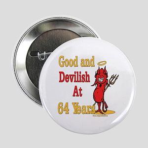 "Devilish at 64 2.25"" Button"