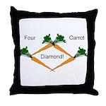 4 Carrot Diamond Throw Pillow