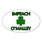 Impeach O'Malley Oval Sticker (10 pk)