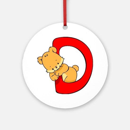 Zoo Alphabet D - Bear Ornament (Round)