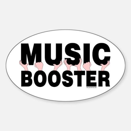 Music Booster Hands Sticker (Oval 10 pk)