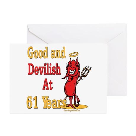 Devilish at 61 Greeting Cards (Pk of 10)