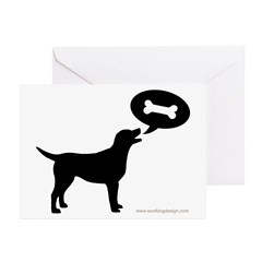 Labrador Retriever Treat Greeting Cards (Pk of 20)