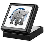 Animal Art Elephant Keepsake Box