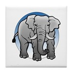 Animal Art Elephant Tile Coaster