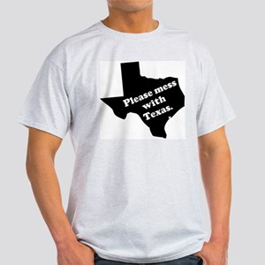 Please Mess With Texas Ash Grey T-Shirt