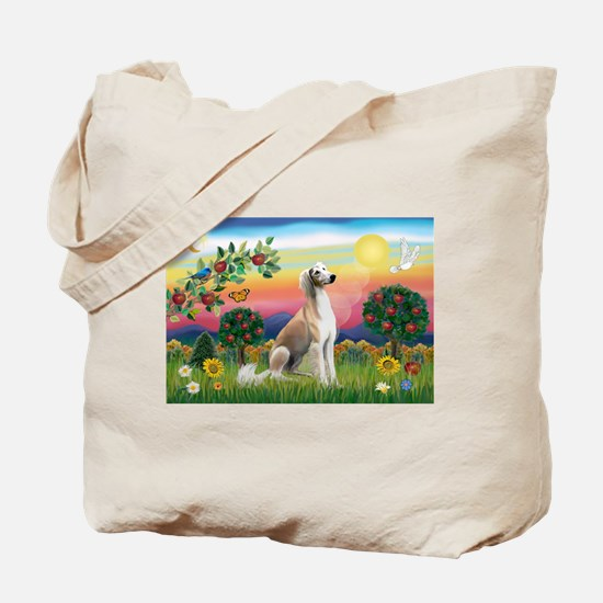 Bright Country with Saluki Tote Bag