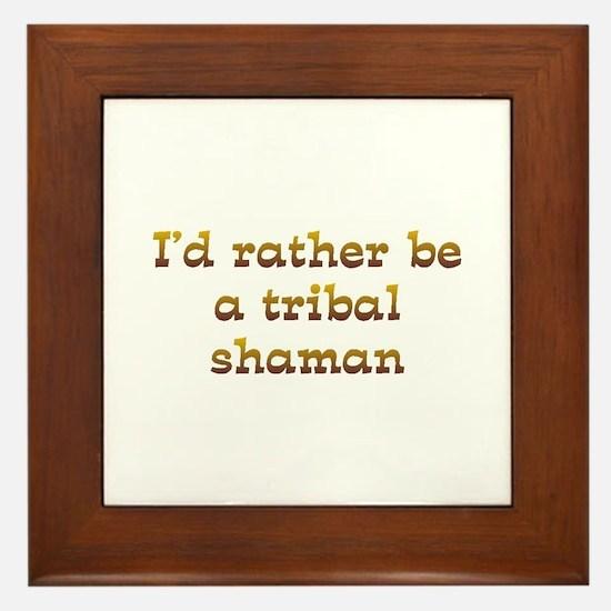 IRB Tribal Shaman Framed Tile
