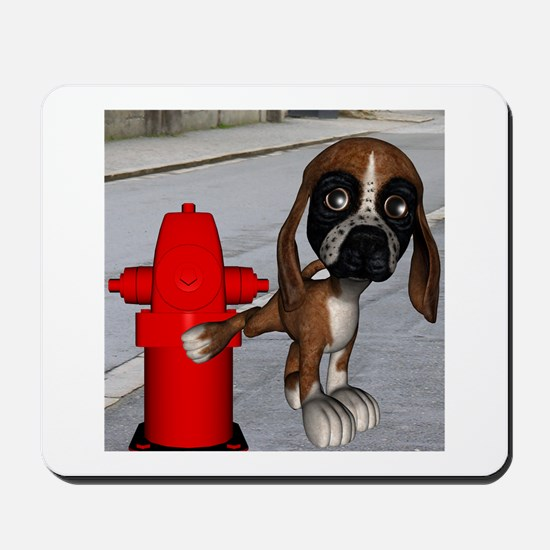 Dog Firehydrant Mousepad