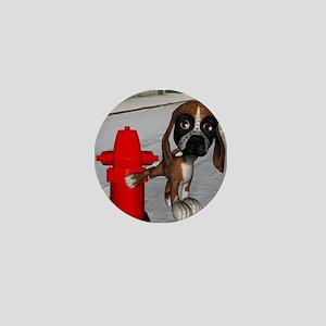 Dog Firehydrant Mini Button