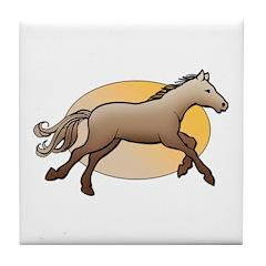 Animal Art Horse Tile Coaster