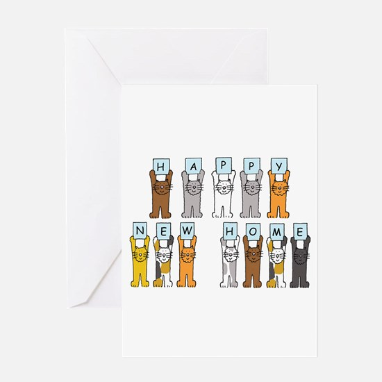 Happy New Home Cats Greeting Cards