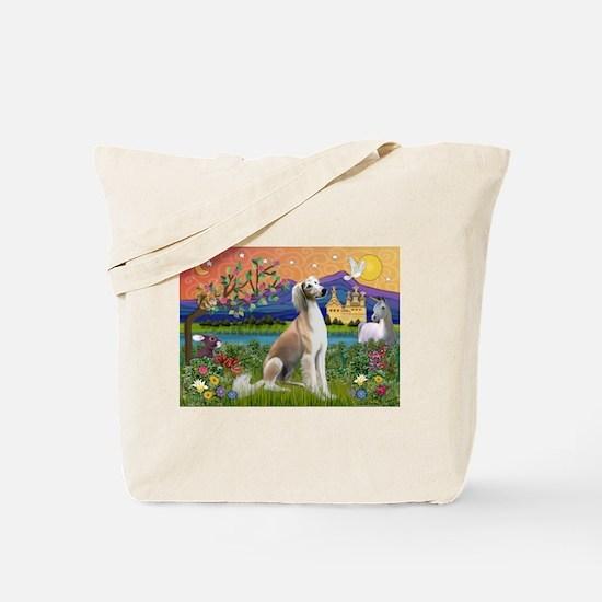 Saluki in Fantasyland Tote Bag