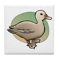 Animal Art Duck Tile Coaster